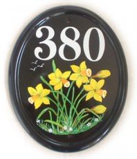 Daffodills - painted on a large classic oval by Jean