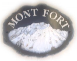 Mont Fort mountain - painted by Gerry on a large natural house name plaque from a picture sent by the customer - sorry about the out of focus picture
