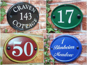 Oval House Signs