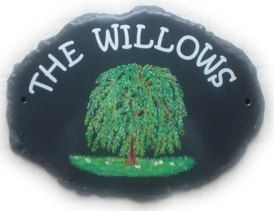 Willow tree sign - we can paint most types of trees. Font is called