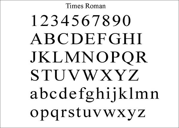 Download free Times-Roman Regular font