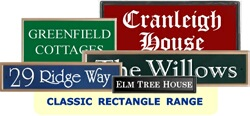 Classic Rectangle House Signs