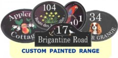 Unique Custom Painted Pictorial House Plaques