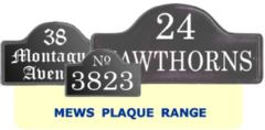 Mews Style House Number and Address plates