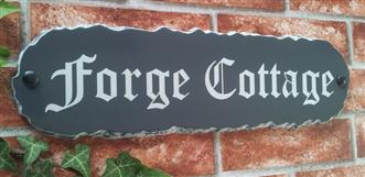 Long Rustic Slate Style House Sign