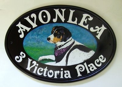scottie dog portrait sign