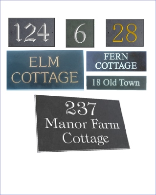 1d59c2718281 House Signs - House Numbers - House Names - Address Plaques