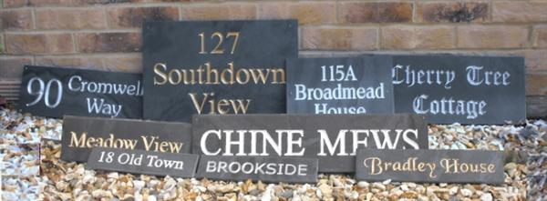 Slate House Name & Address Plaques